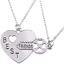 d9de344fea25 STRASS   PAILLETTES Lote de 2 Collares de Plata para el Mejor Amigo para  Compartir con