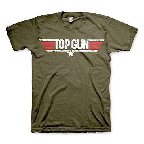 Top Gun - Camiseta Vintage Oficial de la película de 1986 Verde - XL