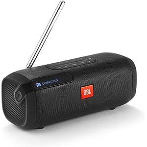 JBL Tuner 5W Radio – Portable Bluetooth Speaker with DAB & FM Radio – Music Player for Bluetooth, Radio and MP3 – 8 Hours Wireless Digital Radio – Black