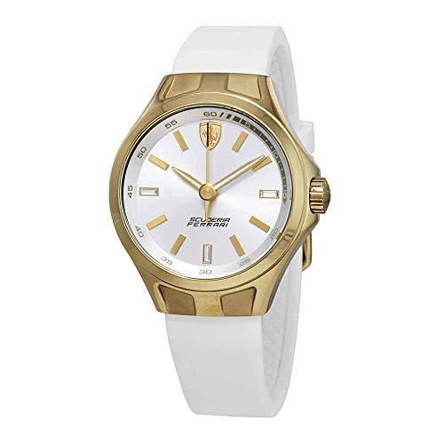 Ferrari Donna 820006 - Reloj de pulsera para mujer, esfera plateada