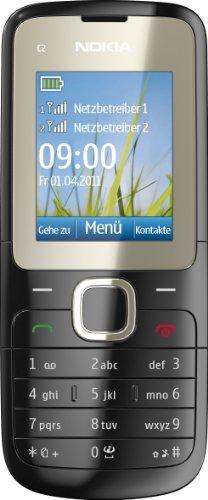 Nokia Nokia C2-00 Handy (Dual-Sim Handy, 4,6 cm (1,8 Zoll) Display, Bluetooth, MP3, E-Mail, VGA Kamera) schwarz