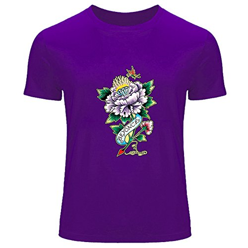 Nuovo ed Hardy stampato da uomo T-Shirt Tee outlet Purple XXX-Large