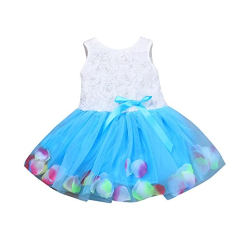 Baby Mädchen Blume Kleid Outfits Hirolan Kleinkind Säugling Bowknot Tutu Blütenblätter Tüll...
