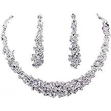 Parures de Bijoux , Collier Susenstone Bal de Mariage Bijoux de Mariage  Strass Collier Boucle D