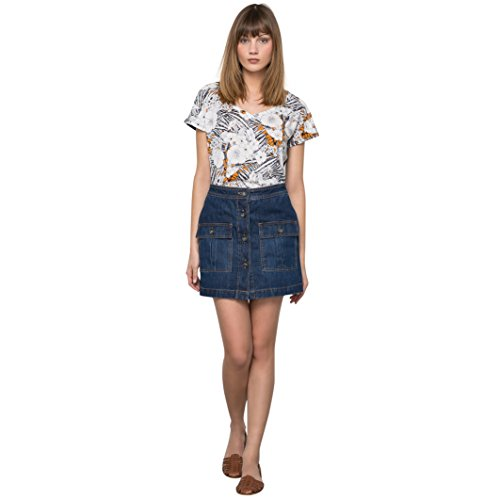 R Studio Donna Gonna In Denim Taglia 38 Altro