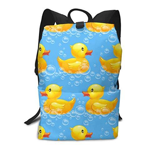 Rubber-Duck-Seamless Backpack Middle für Kinder Jugendliche Schulreisetasche