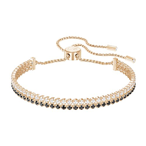 Swarovski Subtle Double Armband, schwarz, rosé Vergoldung (Swarovski-charme-armband)