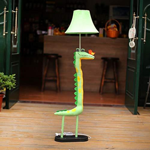 FEI Lámpara de Pie Creativa Lámpara de Pie de Dibujos Animados Lámpara de Pie de Cocodrilo Dormitorio Lámpara de Cama Pastoral de Dibujos Animados Luces de la Sala de Estar Regalos de Los Niños de Di