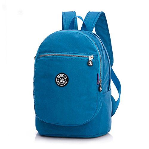 Outreo Rucksäcke Damen Schulrucksack Rucksack Wasserdicht Schul Daypack Leichter Schultaschen Lässige Tasche Backpack für Sport Reisetasche Blau 2
