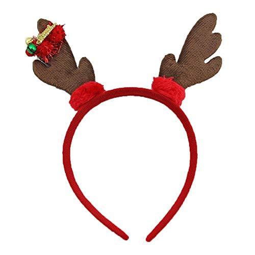 Timmershabi Cute Weihnachten Stirnband Dekoration Haarschmuck für Weihnachtsfeiern -