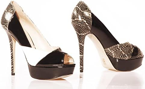 Guess - Zapatos de Vestir de Cuero para Mujer Multicolor Negro