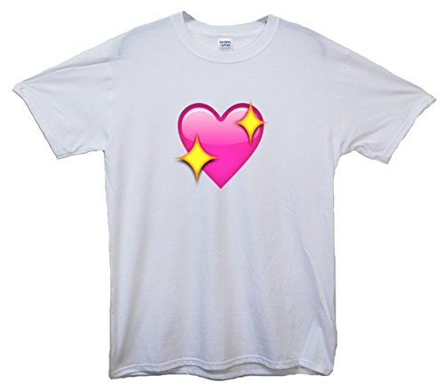 Sparkling Heart Emoji T-Shirt Weiß