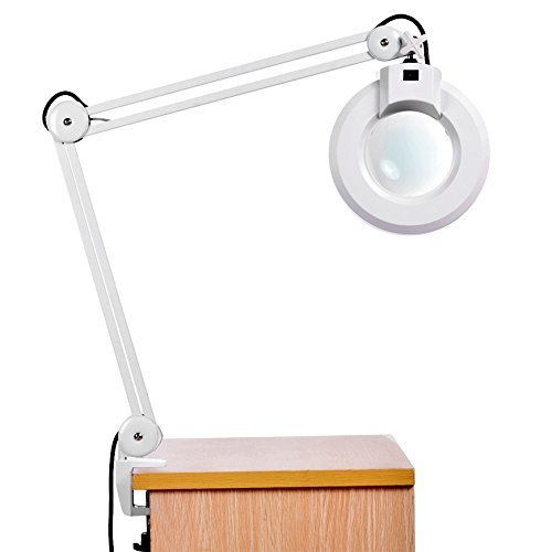 Motivated Big Promotion Magnifying Lamp Led Glass Adjustable Rolling Floor Stand Magnifier Light Salon Facial Rolling Wheel Styling Ukplug Hair Care & Styling Styling Accessories