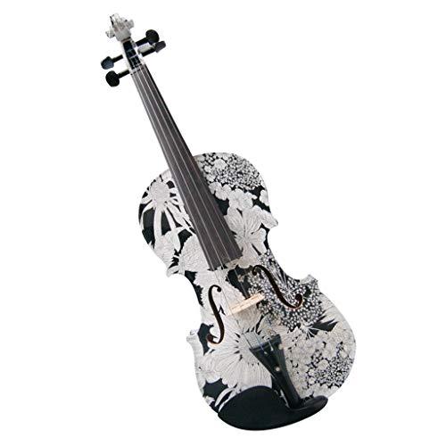 Violini Strumenti a Corda 4/4 Fatto a Mano in Legno massello Voilin Colore Brillante Super Sound Bambini o Adulti Strumenti Musicali Due Colori (Color : B, Size : 4/4)