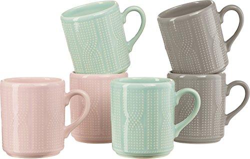 Gepolana Kaffeebecher 6er-Pack Keramik