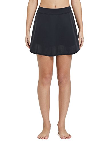 Rocorose Women's Plus Size Swim Skort Quick Dry Solid Color Swimwear with Brief