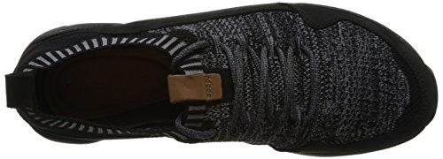 Clarks Triactive Knit, Scarpe da Ginnastica Basse Uomo Nero (Black Leather)