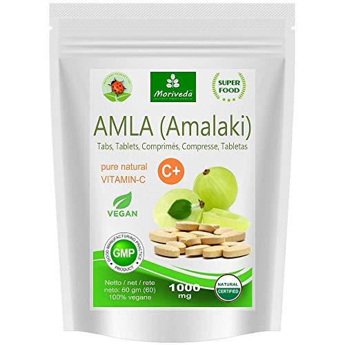 Camu-beere Pulver (Amla Tabletten 1000mg (180 oder 60 Stk.) Vitaminbombe - 100% Naturprodukt mit Vitamin-C, Chrom, Mineralstoffen, Proteinen und B-Vitaminen. Immunsystem, Antioxidans (60 Presslinge))
