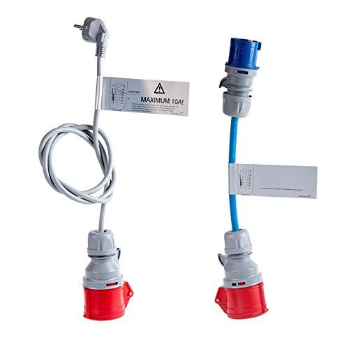Adapterset für Proteus-NRGkick Typ 2 - Ladekabel für Elektroauto Proteus-NRGkick 16 und NRGkick 16 light, Notladekabel 230 Volt Schuko, 230 Volt CEE, 400 Volt CEE 16A
