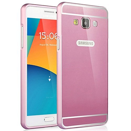Feikai Metal Frame Slim Bumper Protector Premium Aluminum Alloy Deluxe Ultra-thin Luxury Matt Armor Hybrid Acrylic Cover Case Shield for Samsung Galaxy Grand Neo I9060 Duos I9082 I9080 Pink (Case Armor Duo Shield)
