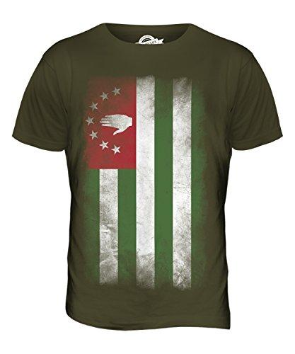 CandyMix Abchasien Verblichen Flagge Herren T Shirt Khaki Grün