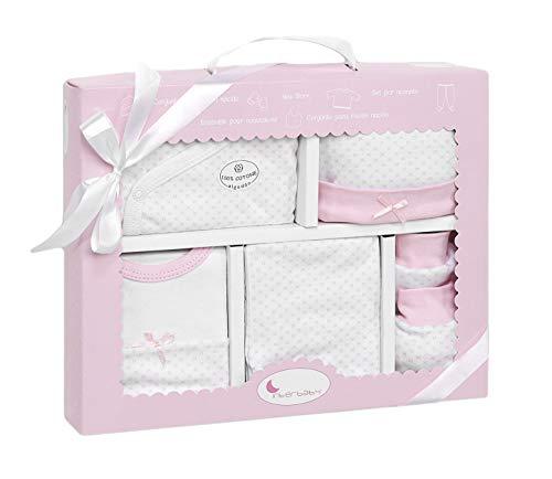 DIKOS Neugeborenen Set Junge/Mädchen Baby Erstausstattung Erstlingsausstattung Ausstattung Kleidung Baby Geschenke Geburt Babykleidung Neugeboren Babyausstattung (rosa)