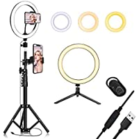 """Zofey 10.2"""" Selfie Ring Light with Tripod Stand & Cell Phone Holder for Live Stream/Makeup, HTLS Mini Led Camera…"""