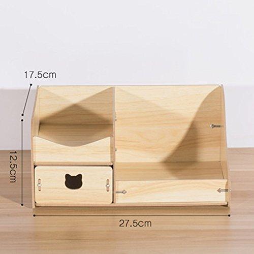 Legno Desktop Cosmetic Storage Box cassetto monili svegli Dresser cura