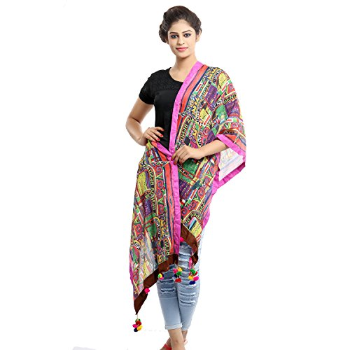 Grishti Madhubani Women's Multicolor Cotton Stole