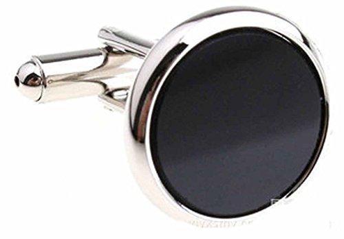 LILY Bijoux exquis Style concis série Shining fantaisie boutons de manchette - Cadeau idéal pour hommes, Silver-2