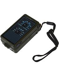 SODIAL (R)Boussole Thermometre Sifflet Briquet Vert Militaire Randonnee Camping
