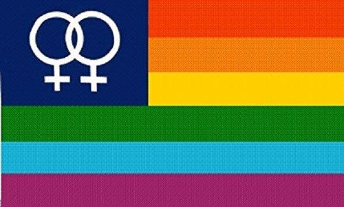 U24 Fahne Flagge Regenbogen Lesbian Lesbisch 90 x 150 cm