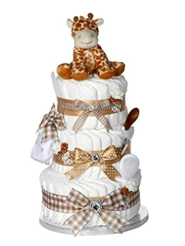 Signature Three Tier LARGE DELUXE Unisex Baby Gift / Nappy