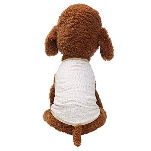 Timogee Hundebekleidung für Kleine Hund Hundejacke für Hunde Herbst Hund Sweatshirts mit Kapuze Atmungs Rhombus Print Hund Katze Dünne Kleidung
