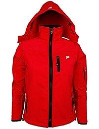 YYH Los estudiantes al aire libre de Soft Shell de los niños usan prendas de vestir compuestas de lana con capucha de color sólido chaqueta de secado rápido . red . s