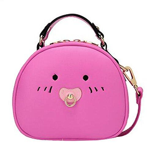 Fille élégante simple sac à bandoulière Bag Fashion Purse,Rose Rouge