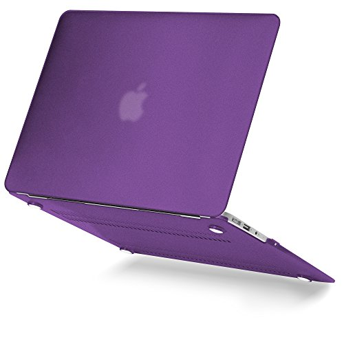 GMYLE MacBook Air 13 Hülle - Hochwertige Matt Gummierte Hartschale Tasche Schutzhülle Snap Case für Apple MacBook Air 13.3 Zoll (A1466 / A1369) , - Pflaume Macbook Pro