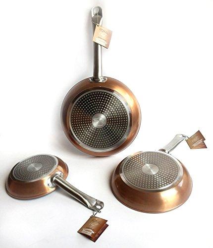 MENAX ROYAL CHEF: Padella profesionale rame di alluminio forgiato per
