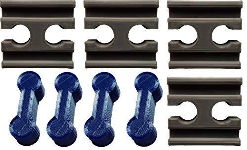 NiCoSo 4x/4x-Set Holzschiene Verbinder Adapter, die passen, für Spielzeug Eisenbahn