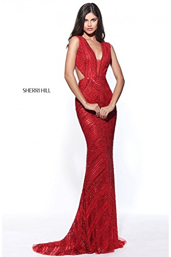 sherri-hill-red-51245-beaded-plunge-neck-open-back-long-gown-uk-6-us-2