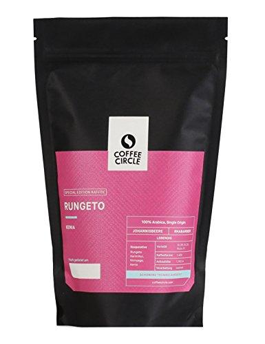 Coffee Circle | Premium Kaffee Rungeto | 350g ganze Bohne | Fruchtiger Filterkaffee Kenia AA | 100% Arabica | fair & direkt gehandelt | frisch & schonend geröstet