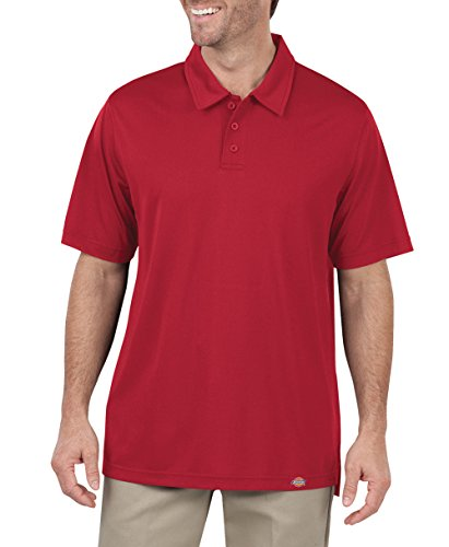 Dickies LS425 6 ml con WorkTech AeroCool Maglia Polo Rosso inglese 3XL