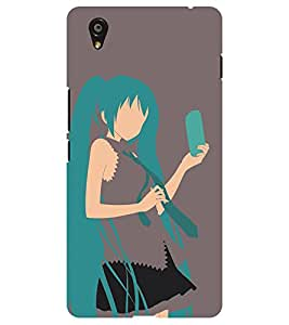 Chiraiyaa Designer Printed Premium Back Cover Case for Oneplus X one plus x (girl mobile skirt selfie) (Multicolor)