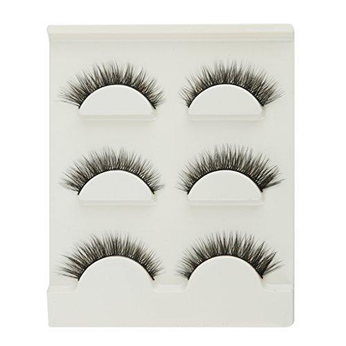 3 Paar Schwarz 3D Handgemachte Natürliche Lange Falsche Wimpern Wimpern Make-up - Unter Natürlichen