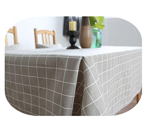 Coton Nappe en lin simple Noir Blanc Gris Lattice moderne épais de style japonais Nappe Coque, Coton, gris, 35 X 35