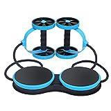 Cong Multifunktionale Muskeltrainier-Ausrüstung Home Fitness Doppel Abdominal Power Wheel Ab Roller Gym Roller Trainer,Blue