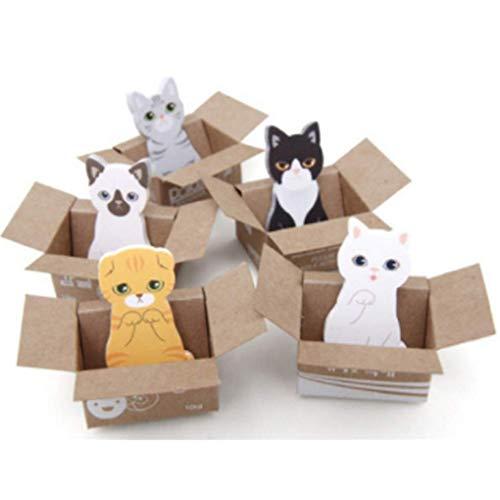 Cute Animals Cat Sticker Lesezeichen Memo Pad Haftnotizen Seite 5 Set cat 5 Set Cat