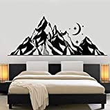 YANCONG Wall Sticker Moon Star Art Wall Art Mural Kids Room Decoration PVC Wallpaperpvc Wall Decal Large Mountains 57X23Cm