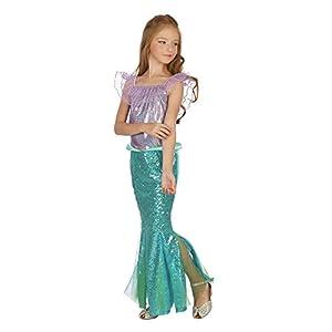Bristol Novelty - Vestido de sirena para niña, color verde y morado