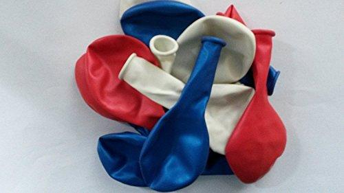 100 rot-weiß-blau- Luft-Ballons-Feier-Deco-Geburtstag-Fete-Helium-geeignet EU Ware vom Sachsen Versand
